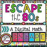 Distance Learning 5th Grade Grade Digital Escape Room Math Review