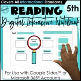 5th Grade Digital Interactive Notebook | Mentor Text Readi