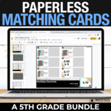 5th Grade Digital Math Centers - Paperless Matching Cards