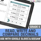 5th Grade Digital Math Games - Read, Write, and Compare De