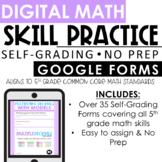 5th Grade Digital Math Practice | Google Forms | Distance