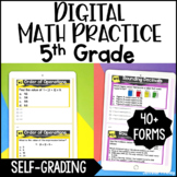 5th Grade Digital Math Practice - Self-Grading Google Forms™ - Distance Learning