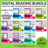 5th Grade Digital Reading Bundle: Nonfiction for Google Sl