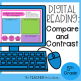 5th Grade Digital Reading: Compare and Contrast for Google