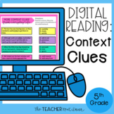 5th Grade Digital Reading: Context Clues for Google Slides