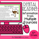5th Grade Digital Reading: Information from Multiple Sourc