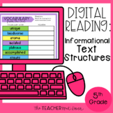 5th Grade Digital Reading: Informational Text Structures |