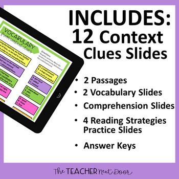 5th Grade Digital Reading Nonfiction: Context Clues | Google Slides™