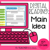Main Idea Digital Reading for Google Slides™ Distance Learning