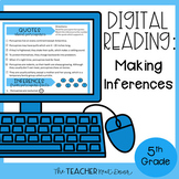 5th Grade Digital Reading Nonfiction: Making Inferences |