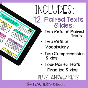 5th Grade Digital Reading Nonfiction: Paired Passages | Google Slides™