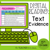 Text Evidence Digital Reading for Google Slides™ Distance