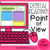 5th Grade Digital Reading: Point of View for Google Slides