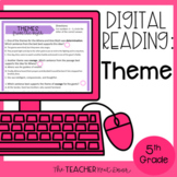 Theme Digital Reading for Google Slides™  Distance Learning
