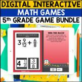 5th Grade Digital Self-Checking Math Games Bundle - PowerP