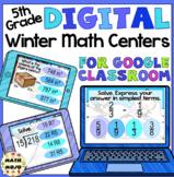 5th Grade Digital Winter Math Centers