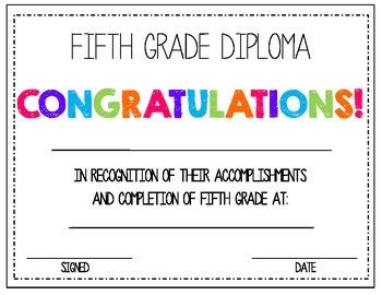 5th Grade Diploma