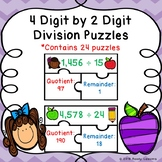5th Grade Division Game Puzzle 4 Digit by 2 Digit Division & Remainders 5.NBT.6