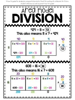 5th Grade Division Interactive Notebook