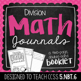 5th Grade Division Math Journal