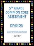5th Grade Division Test - Common Core