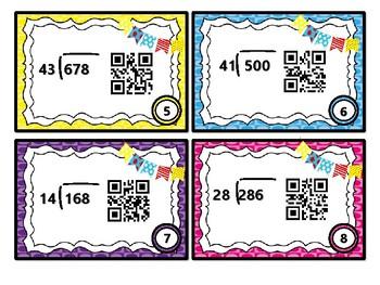 5th Grade Division with QR Code Fun Common Core 5.NBT.6