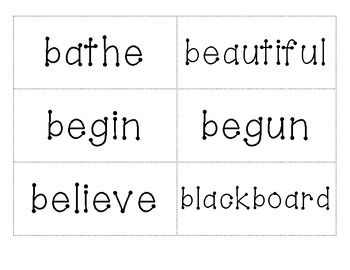 5th Grade Dolch Words Flashcards and List
