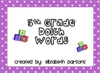 5th Grade Dolch Words - Magenta