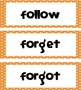 5th Grade Dolch Words - Orange