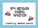 5th Grade Dolch Words - Teal