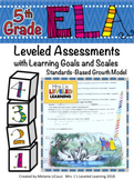 5th Grade ELA Assessment Reading Literature RL with Proficiency Scales