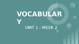 Benchmark ELA 5th Grade- Vocabulary Powerpoint for Unit 1 Week 2
