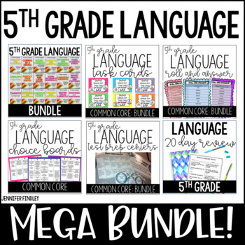 5th Grade ELA Bundle (CCSS Language Standards)