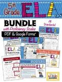 5th Grade ELA Bundle with Marzano Proficiency Scales - PDF & Google Forms