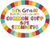 5th Grade ELA CCGPS Standards Posters