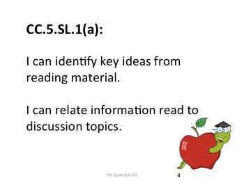 5th Grade ELA CCS for Posting - Student Friendly- Generic Nomenclature