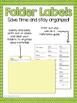 5th Grade ELA CCSS Folder Labels
