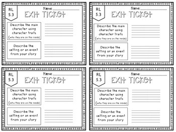 5th Grade ELA Common Core Reading Exit Tickets {Literature & Info. Text} BUNDLE!
