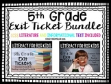 5th Grade ELA Common Core Reading Exit Tickets {Literature