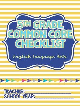 5th Grade ELA Common Core Standards Checklist