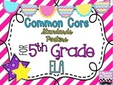 5th Grade ELA Common Core *Standards Posters* Diagonal Pin