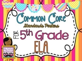 5th Grade ELA Common Core *Standards Posters* Melon Stripes