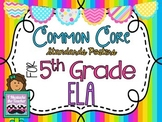 5th Grade ELA Common Core *Standards Posters* Neon Vertica