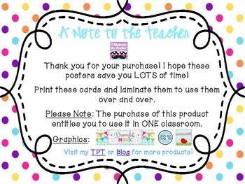 5th Grade ELA Common Core *Standards Posters* Polka Dots
