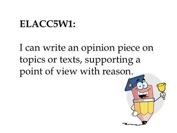 5th Grade ELA Common Core Standards - Student Friendly-Pencil Theme
