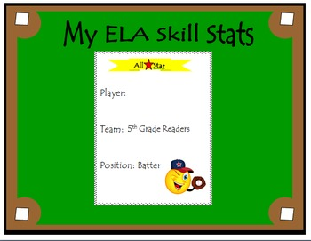 5th Grade ELA Common Core: Student Data Tracking Binder (A