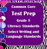 5th Grade ELA Common Core Test Prep: Literary, Writing, and Language Standards