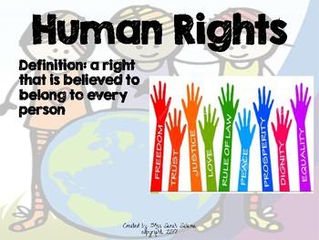 Human Rights 5th Grade ELA Engage NY Module 1 Lesson 1