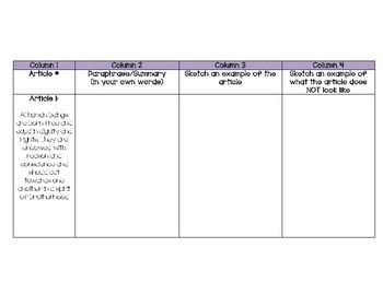 5th Grade ELA EngageNY Module 1 Unit 1 Lesson 1 Note-Catcher
