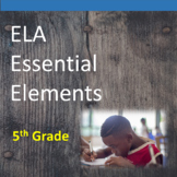 5th Grade ELA Essential Elements for Cognitive Disabilities: Data Collection